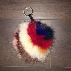 Jocelyn multi colored bag charm/keychain
